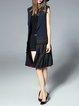 H-line Elegant Sleeveless Polyester Pleated Vests