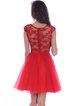 V Neck Elegant Sleeveless Floral-embroidered Mini Dress