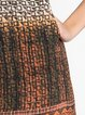 Sleeveless Resort Tribal Printed Mini Dress
