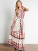 Printed Spaghetti Resort Maxi Dress