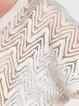 Cream H-line V Neck Guipure Lace Casual Blouse