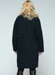 Dark Blue H-line Appliqued Long Sleeve Coat