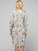 Light Gray V Neck H-line Resort Midi Dress
