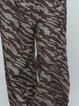 Brown Animal Print Casual Wide Leg Pants