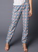 Gray Casual Abstract Printed Straight Leg Pant