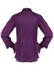 Purple Two Piece Elegant Ruffled Plain Blouse