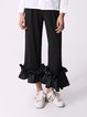 Plain Paneled Simple Straight Leg Pant