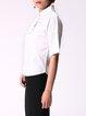 White Shirt Collar Plain Simple Blouse