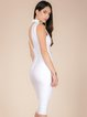White Sleeveless Plain Bandage Dress