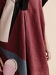 Burgundy Paneled Casual Tunic