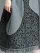 Wool Blend Half Sleeve Elegant Paneled Midi Dress
