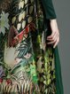 Dark Green Floral Long Sleeve Midi Dress