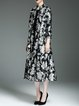 Long Sleeve Floral Elegant Polyester Coat