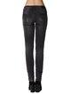 Black Casual Washed Cotton-blend Plain Skinny Leg Pants