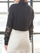 Embroidered Cotton Elegant Long Sleeve H-line Blouse