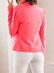 Pink Long Sleeve H-line Polyester Lapel Blazer
