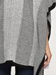 Knitted Knitted H-line Casual Batwing Poncho