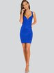 Royal Blue Sweetheart Plain Sheath Sexy Bandage Dress