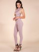 Cross-over Front Bandage Jumpsuit