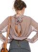 Stand Collar Elegant Long Sleeve Blouse