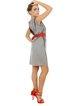 Sleeveless Sheath Elegant Pleated Midi Dress