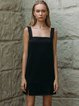 Spaghetti Polyester Solid Sleeveless Simple Mini Dress