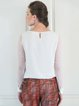 Ivory Crew Neck Elegant Ruffled Blouse