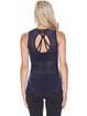 Navy Blue Slightly Stretchy Cotton Breathable Top Tank