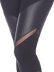 Black Natural Slightly Stretchy Breathable Cotton Bottom Leggings