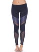 Navy Blue Cotton Natural Slightly Stretchy Bottom Leggings
