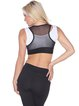 Black Cotton Breathable Stretchy Sports Bra