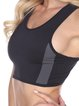 Black Breathable Stretchy Cotton Sports Bra