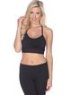 Black Breathable Cotton Sports Bra