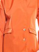 Orange H-line Buttoned Long Sleeve Coat