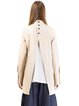 Beige H-line Letter Cotton-blend Long Sleeve Blouse
