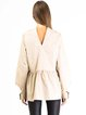 Beige Long Sleeve Crew Neck A-line Blouse