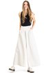 Black Solid H-line Cotton-blend Simple Wide Leg Pants