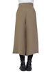 Khaki Solid H-line Acetate Simple Wide Leg Pants