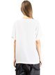 White Crew Neck H-line Simple T-Shirt
