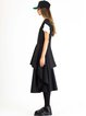Black Asymmetric Sleeveless High Low Tunic