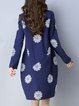 Floral Floral-embroidered Long Sleeve Midi Dress