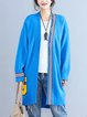 Long Sleeve Printed Casual Linen Outerwear