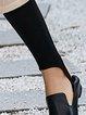 Black Letter Casual Printed Leggings
