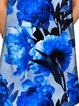 Plus Size Casual Floral Sleeveless Polyester Midi Dress