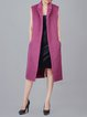 Purple Wool H-line Elegant Solid Vests