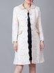 Peter Pan Collar Wool A-line Elegant Long Sleeve Coat