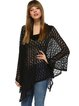 Batwing Cowl Neck Casual Solid Poncho