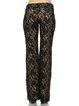 Black Guipure Lace Elegant Flared Pants