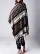 Black Boho H-line Knitted Poncho