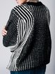 Black Asymmetrical Ribbed Batwing Sweater